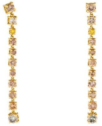 14K Diamond Linear Drop Earrings
