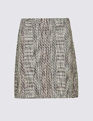M&S Collection Cotton Blend Textured A-Line Mini Skirt