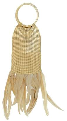 Whiting & Davis Feather Fringe Clutch