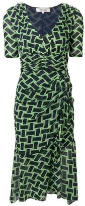 Diane von Furstenberg Farrell printed dress