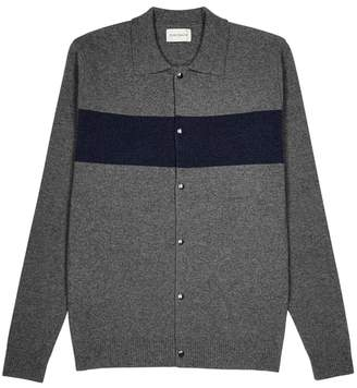 Oliver Spencer Roxwell Grey And Navy Wool Jacket