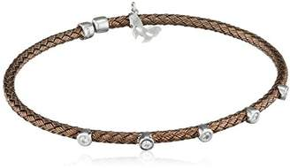 Vamp London Entwined Dainty 18ct Chocolate Gold Plated Sterling Silver Bracelet ENB003-CH-C