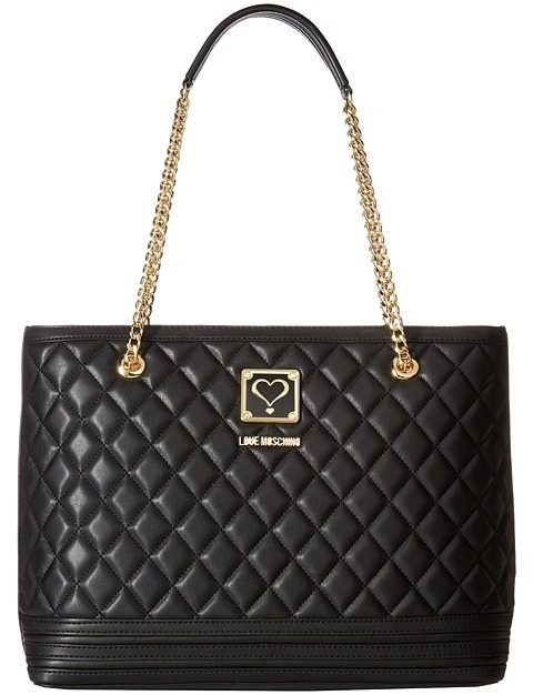 Love Moschino LOVE Moschino - Quilted Tote with Chain Tote Handbags