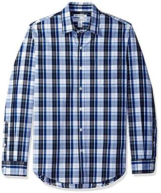 Amazon Essentials Men's Slim-Fit Long-Sleeve Plaid Shirt