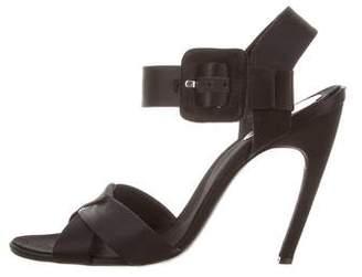 Roger Vivier Satin Ankle Strap Sandals