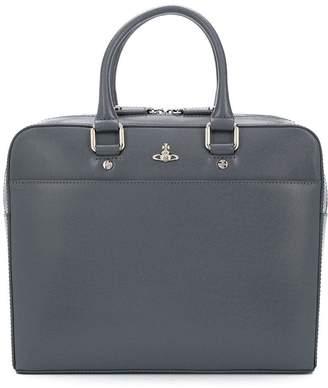 Vivienne Westwood iconic orb logo briefcase