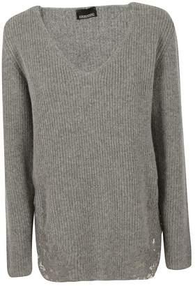 Ermanno Scervino Lace Detail Sweater