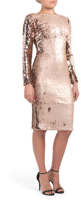 Emery Long Sleeve Sequin Midi Dress