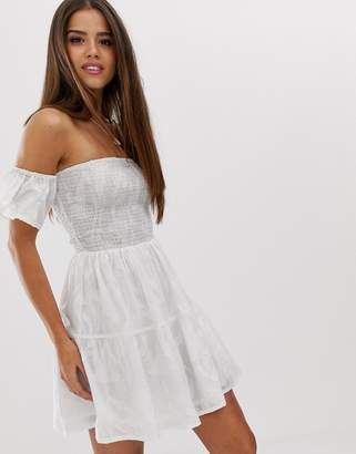 79db3929fb4 Bardot Influence cotton beach skater dress