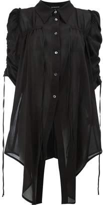 Ann Demeulemeester gathered longline shirt