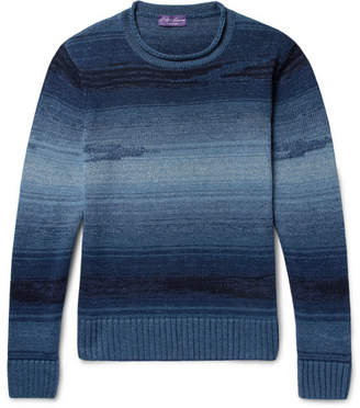 Ralph Lauren Purple Label Slim-Fit Mélange Linen, Cotton, Cashmere and Silk-Blend Sweater