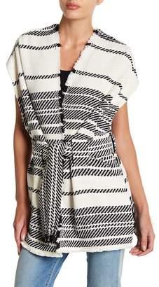 IRO Belted Stripe Poncho