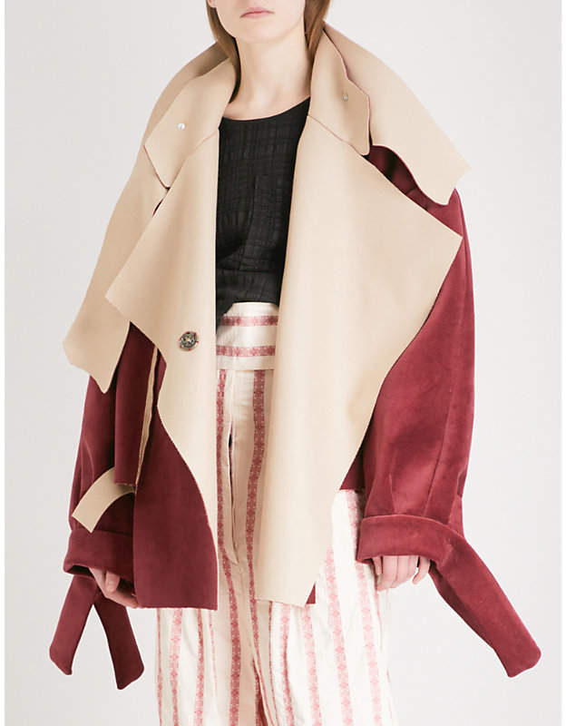 Daniel Gregory Natale Unconstructed wool and cotton bomber jacket