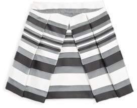 Milly Minis Girl's Stripe Pleated Skirt