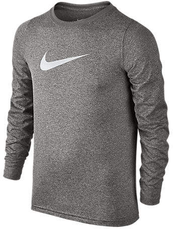 Nike Boys' Swoosh Dry Training T-Shirt, Grey