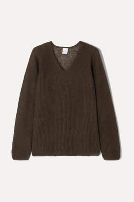 Max Mara Leisure Ribbed Mohair-blend Sweater - Brown