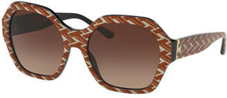 Tory Burch Octagon Gradient Acetate Sunglasses