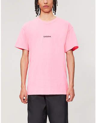 FAMT Unfollow cotton-jersey T-shirt