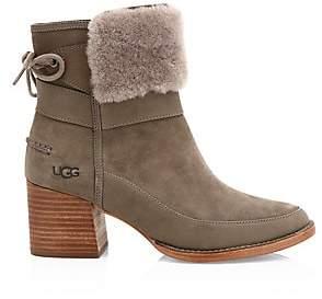 UGG Women's Kirke UggPure Suede & Sheepskin Ankle Boots