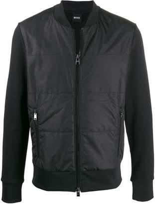 HUGO BOSS quilted bomber jacket