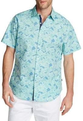 Nautica Printed Stretch Oxford Shirt