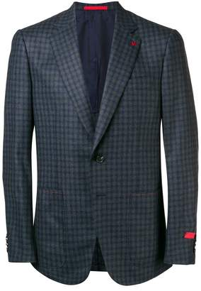 Isaia checked tailored blazer