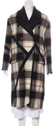 Burberry Wool Exploded Check Coat w/ Tags