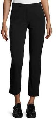 Derek Lam Drake Slim-Leg Cropped Pants, Black $750 thestylecure.com