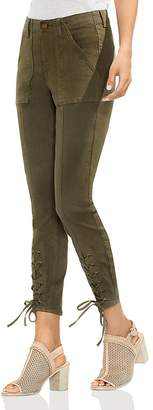 Vince Camuto Lace-Up Cuff Skinny Ankle Pants