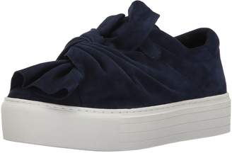 Kenneth Cole New York Women's Aaron Platform Twisted Bow Suede Fashion Sneaker