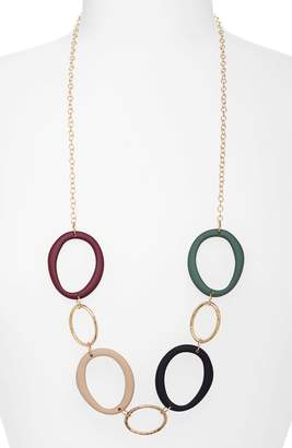 Canvas Jewelry Organic Hoops Necklace