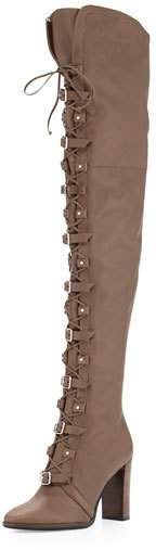 Jimmy Choo Jimmy Choo Maloy Leather 95mm Over-the-Knee Boot