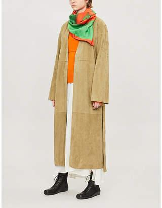 Loewe Suede wrap coat