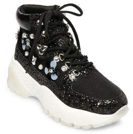 Betsey Johnson Abel Floral Platform Dad Sneaker Booties
