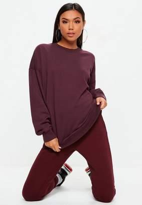 Missguided Purple Long Sleeved Sweat