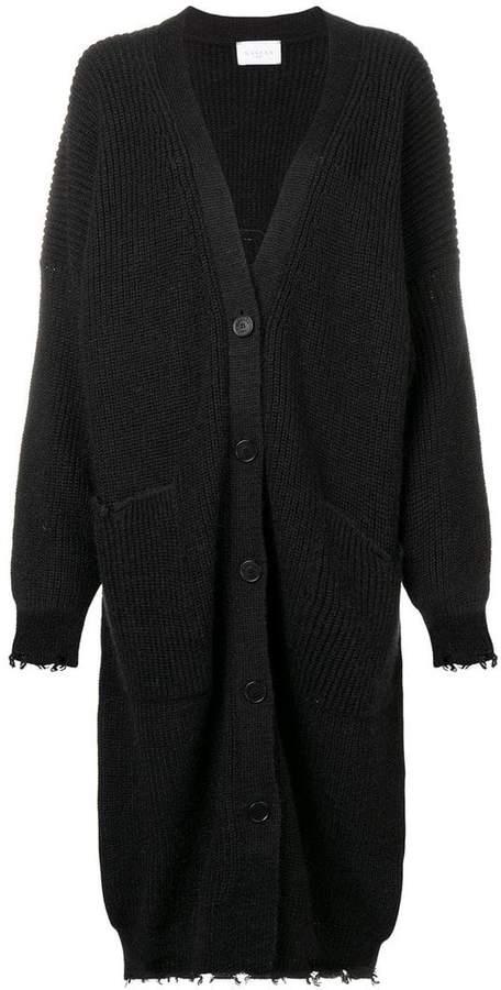 frayed edges cardi-coat