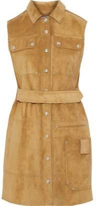 Acne Studios Scala Belted Suede Mini Dress