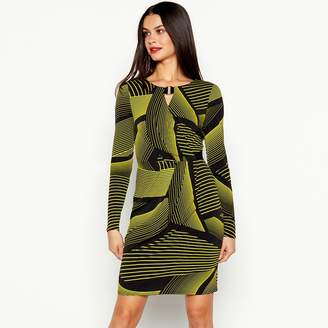 6a40ea4ac05 at Debenhams · Star by Julien Macdonald - Black Chunky Stripe Print Knee  Length Dress