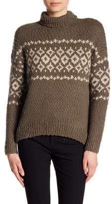 Vince Fair Isle Turtleneck Wool Blend Pullover