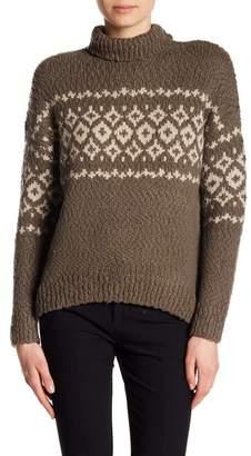 Vince Fair Isle Turtleneck Wool Blend Pullover