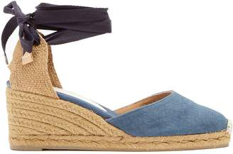Castaner Carina denim wedge espadrilles