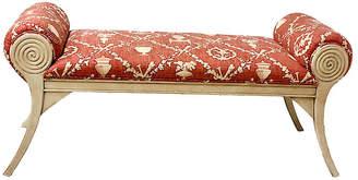 One Kings Lane Vintage Carved Italian Ottoman /Bench - Von Meyer Ltd.