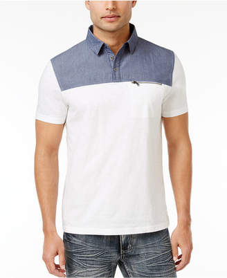 INC International Concepts I.n.c. Men's Colorblocked Cotton Polo, Created for Macy's