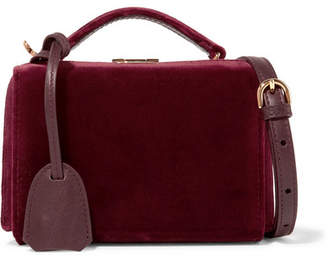 Mark Cross Grace Mini Velvet Shoulder Bag - Burgundy