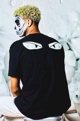 boohoo Glow In The Dark Eyes Oversized Back Print T-Shirt