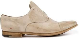 Premiata worn-effect laceless shoes