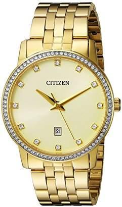 Citizen Men's Quartz Stainless Steel Crystal Accented Watch
