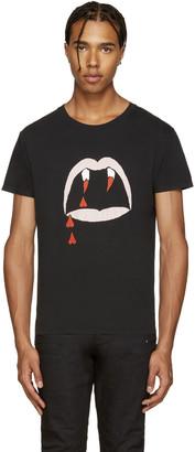 Saint Laurent Black Bloodluster T-Shirt $315 thestylecure.com