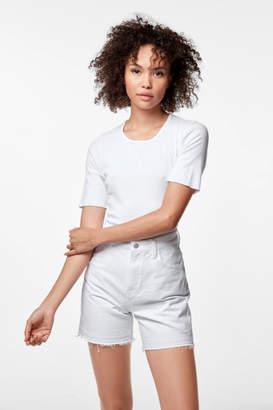 J Brand Joan High-Rise Short In White