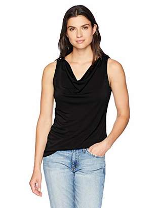 Lark & Ro Amazon Brand Women's Sleeveless Cowlneck Blouse